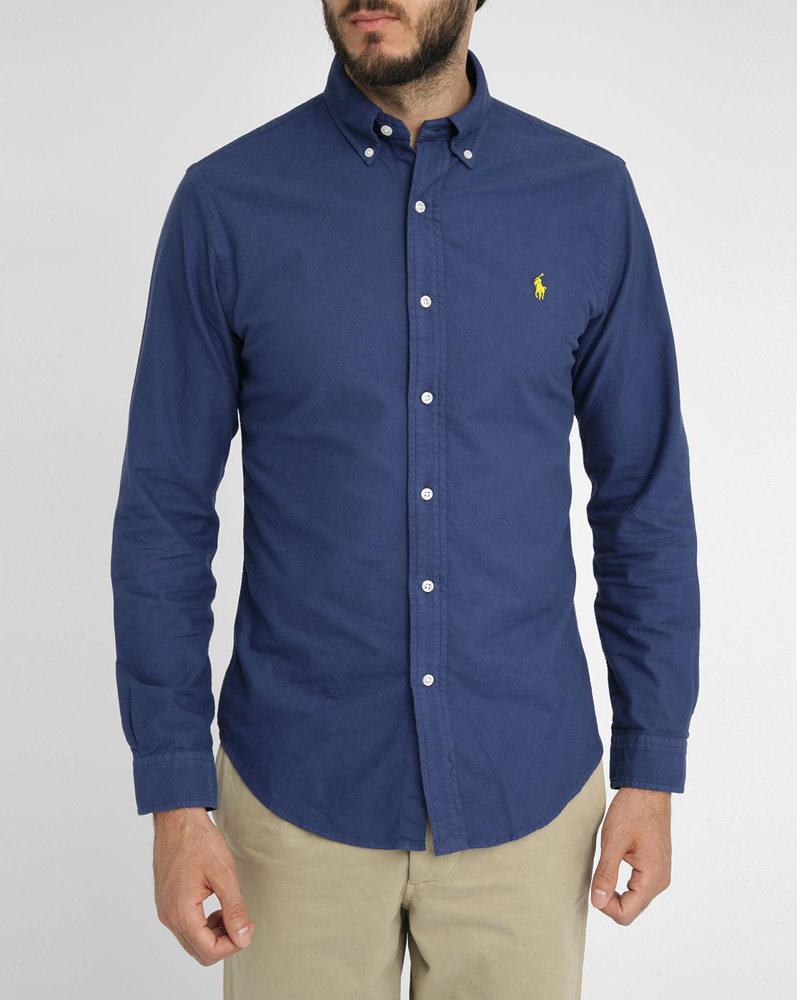 Polo Ralph Lauren Navy Newport Oxford Slim Fit Shirt In