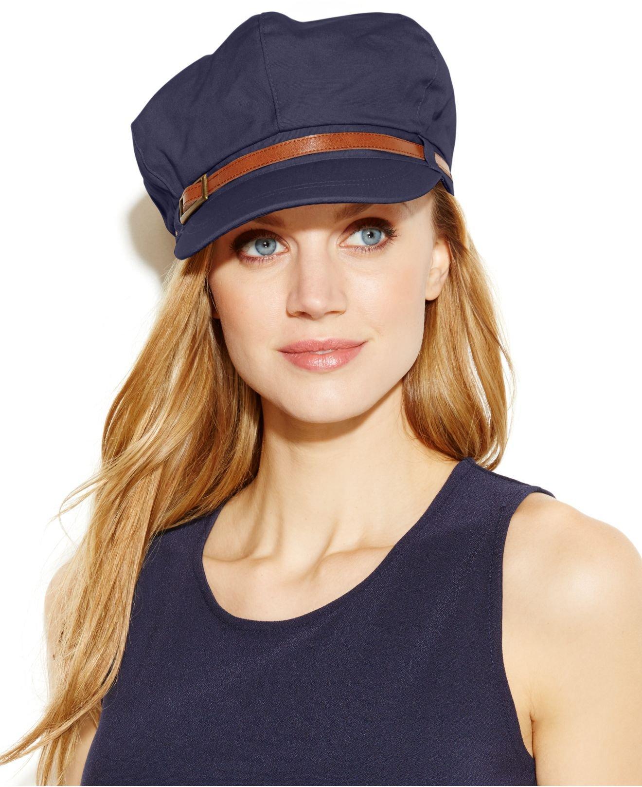 bfa6430e78ed9 Nine West Canvas Newsboy Hat in Blue - Lyst