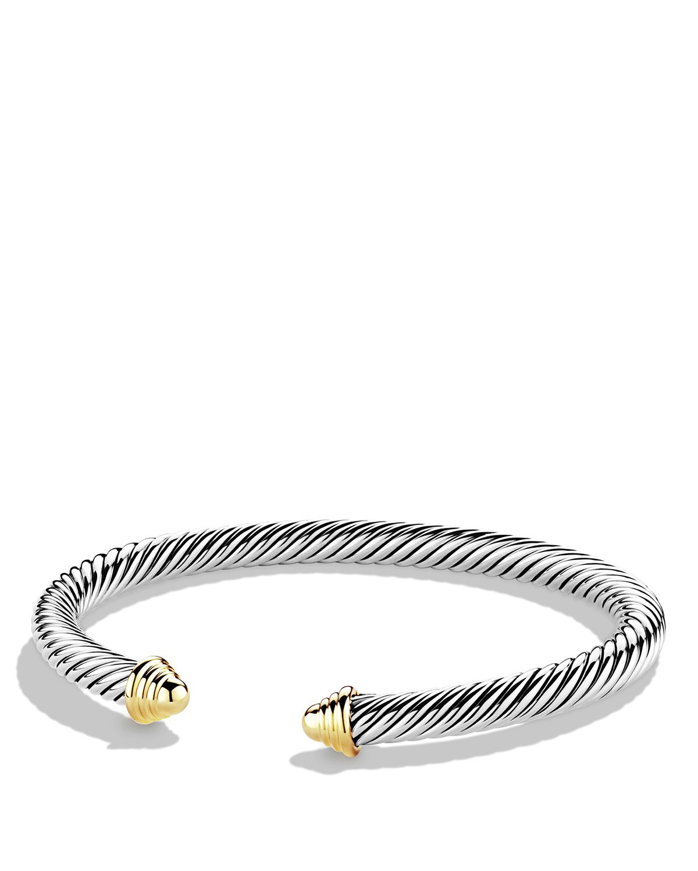 David Yurman Cable Classics Bracelet With Gold In Metallic