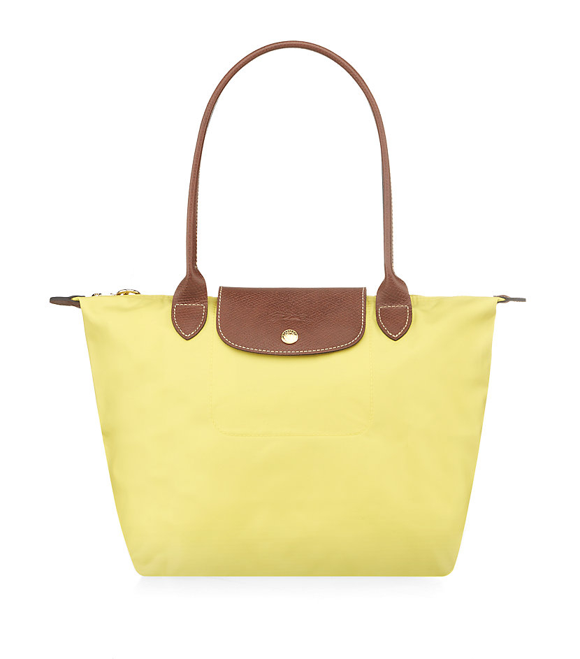 longch le pliage small shoulder bag in yellow lyst