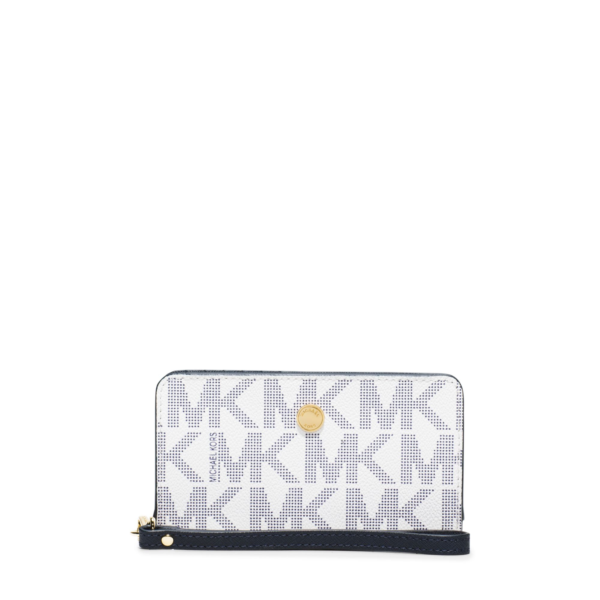 bfe8ce665c68 Michael Kors Jet Set Travel Continental Wallet in Blue - Lyst