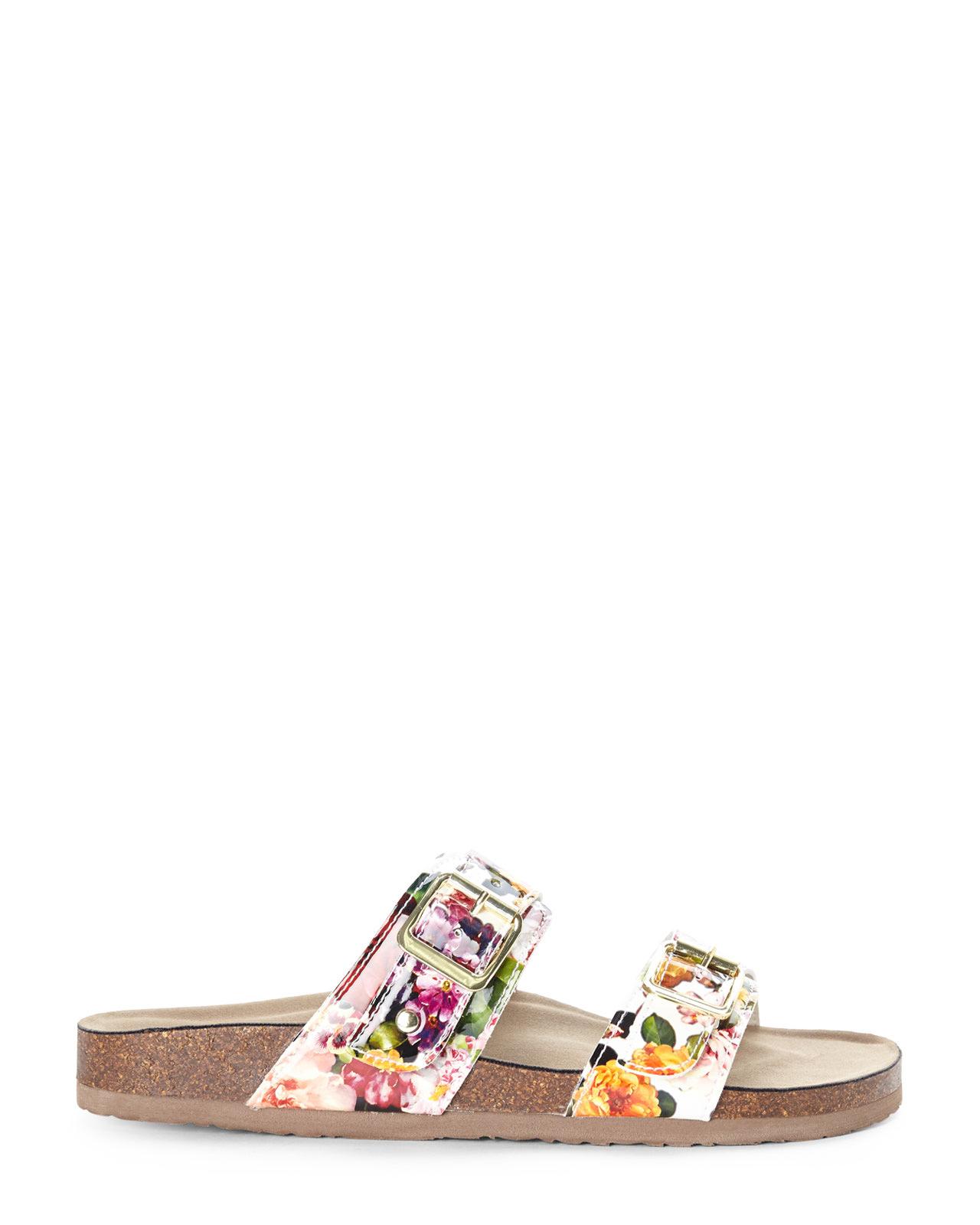 Lyst Madden Girl White Floral Brando Sandals In White