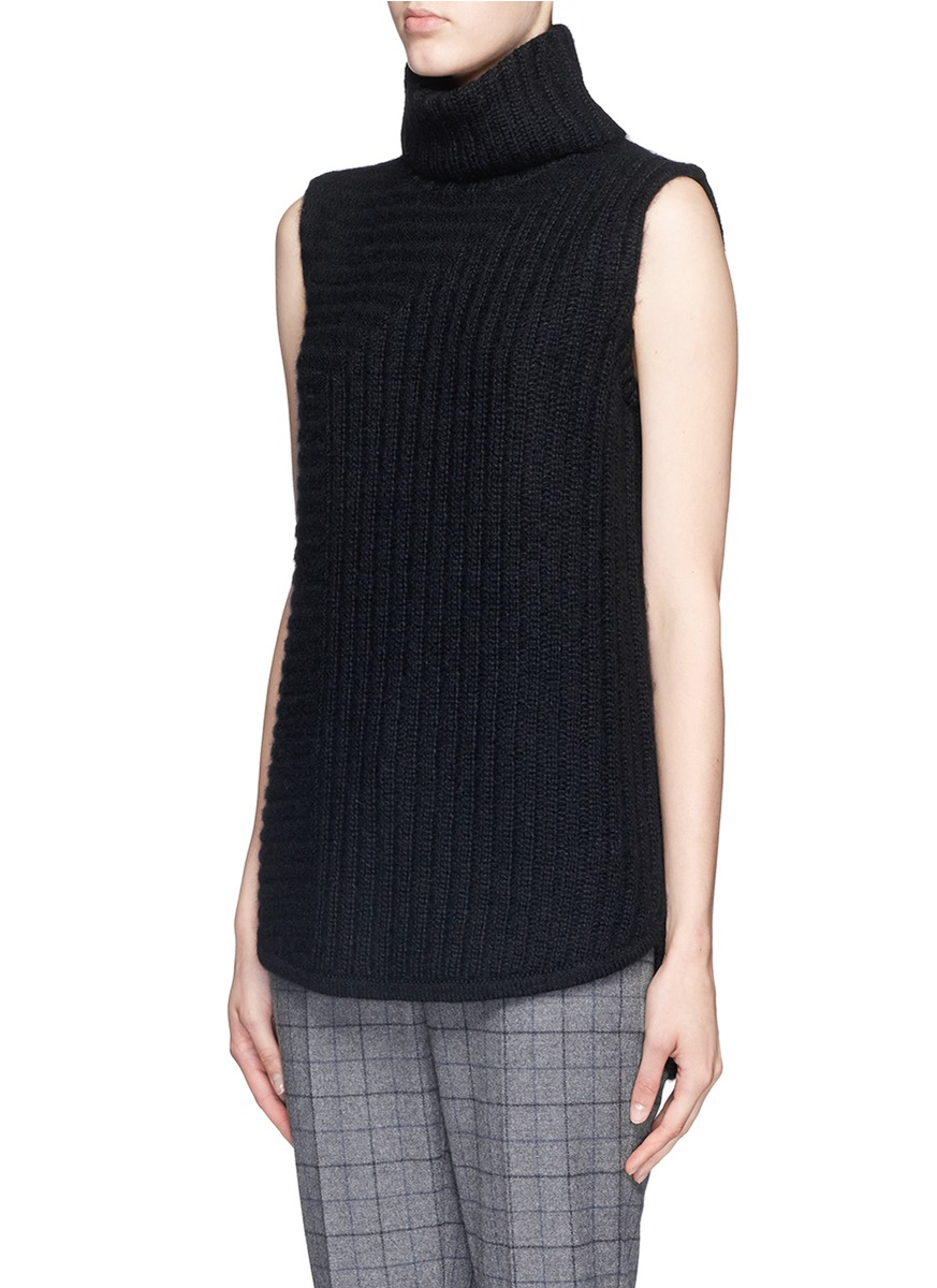Theory 39 Beylor T 39 Chunky Knit Turtleneck Sleeveless