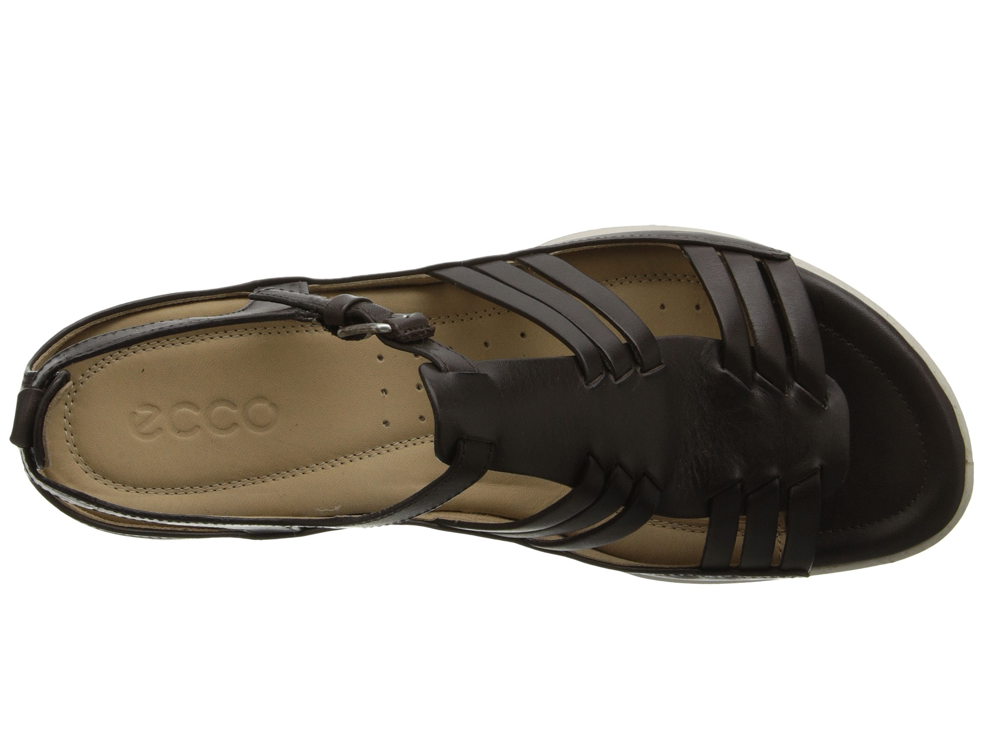 1cc153ee0752 Lyst - Ecco Flash Huarache Sandal in Brown