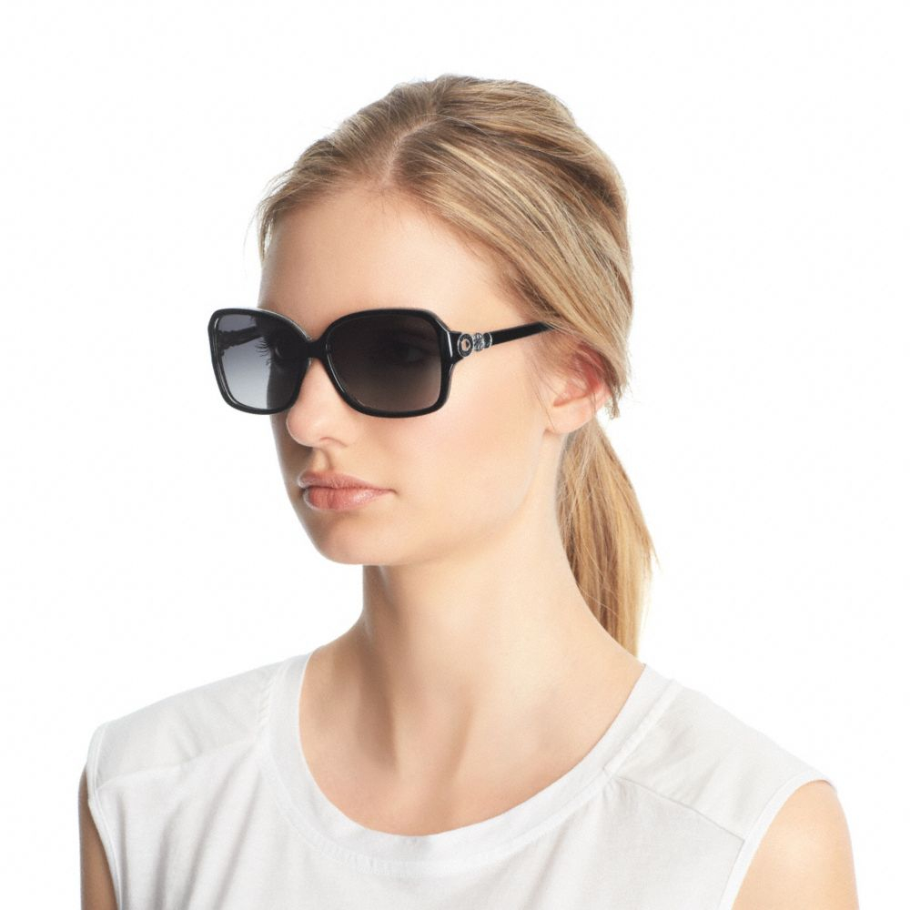 e35581de55248 COACH Frances Sunglasses in Black - Lyst