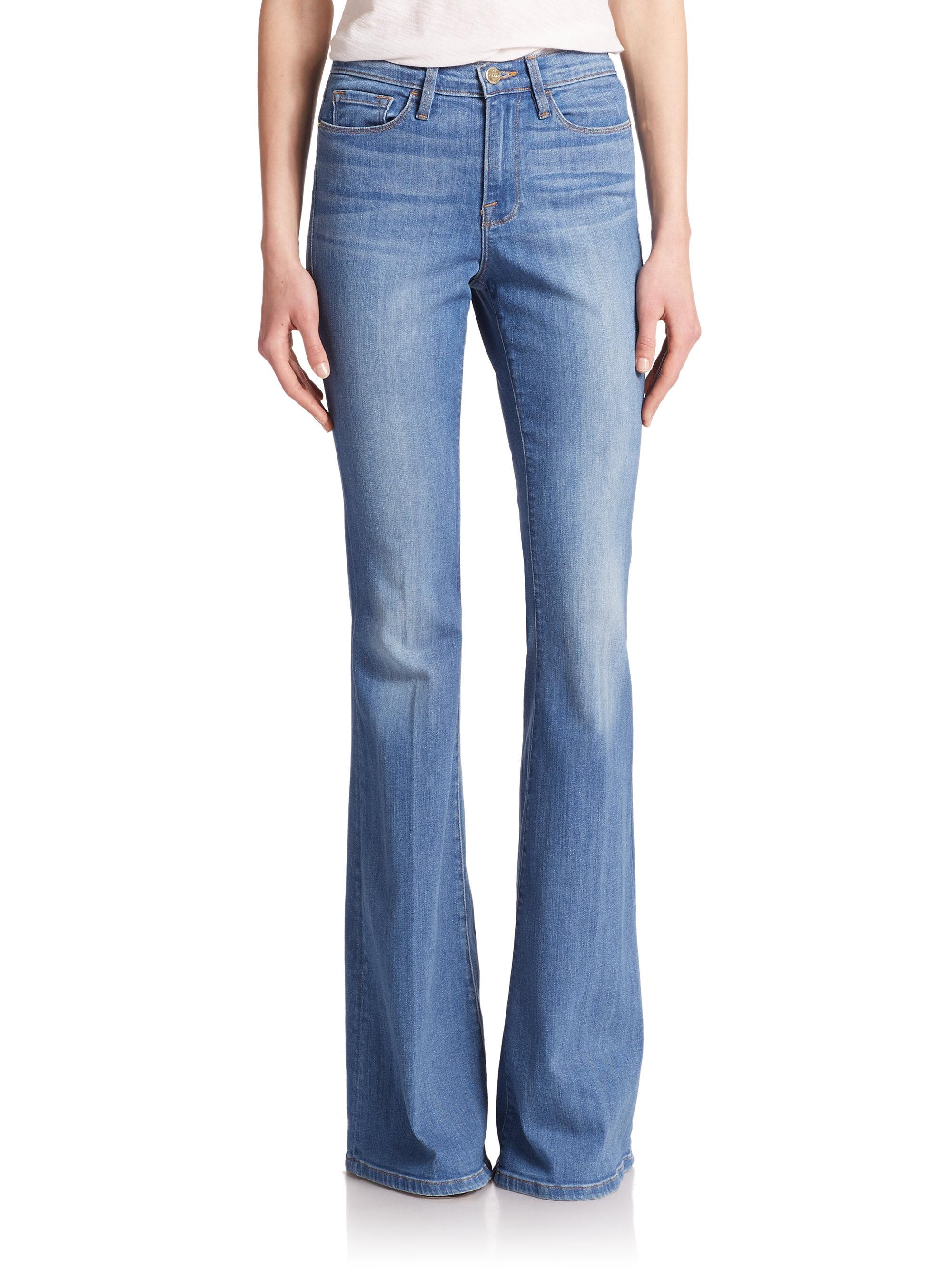 Lyst - Frame Le Forever Karlie Supermodel Length Flared Jeans in Blue