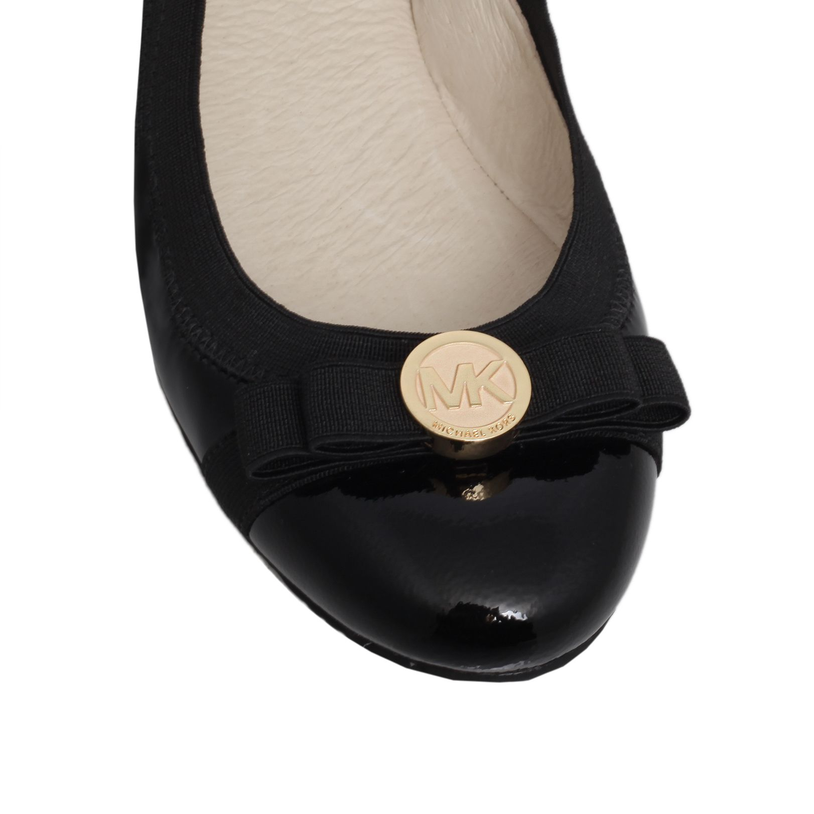 michael kors dixie ballet flat slip ons in black lyst. Black Bedroom Furniture Sets. Home Design Ideas