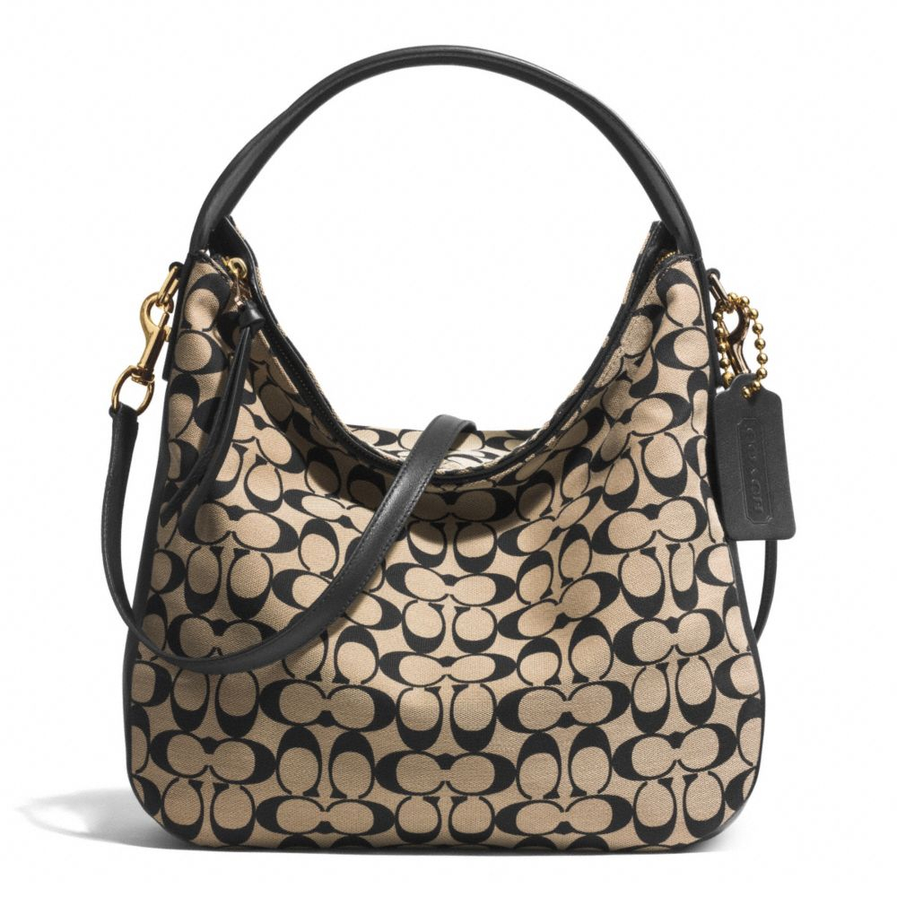 8f05f5aaad ... discount code for lyst coach sullivan hobo bag in printed signature  fabric in black 4fa9f 12401