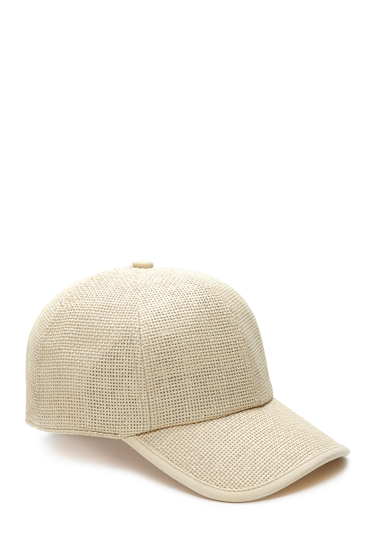 forever 21 prairie doll straw baseball hat in beige