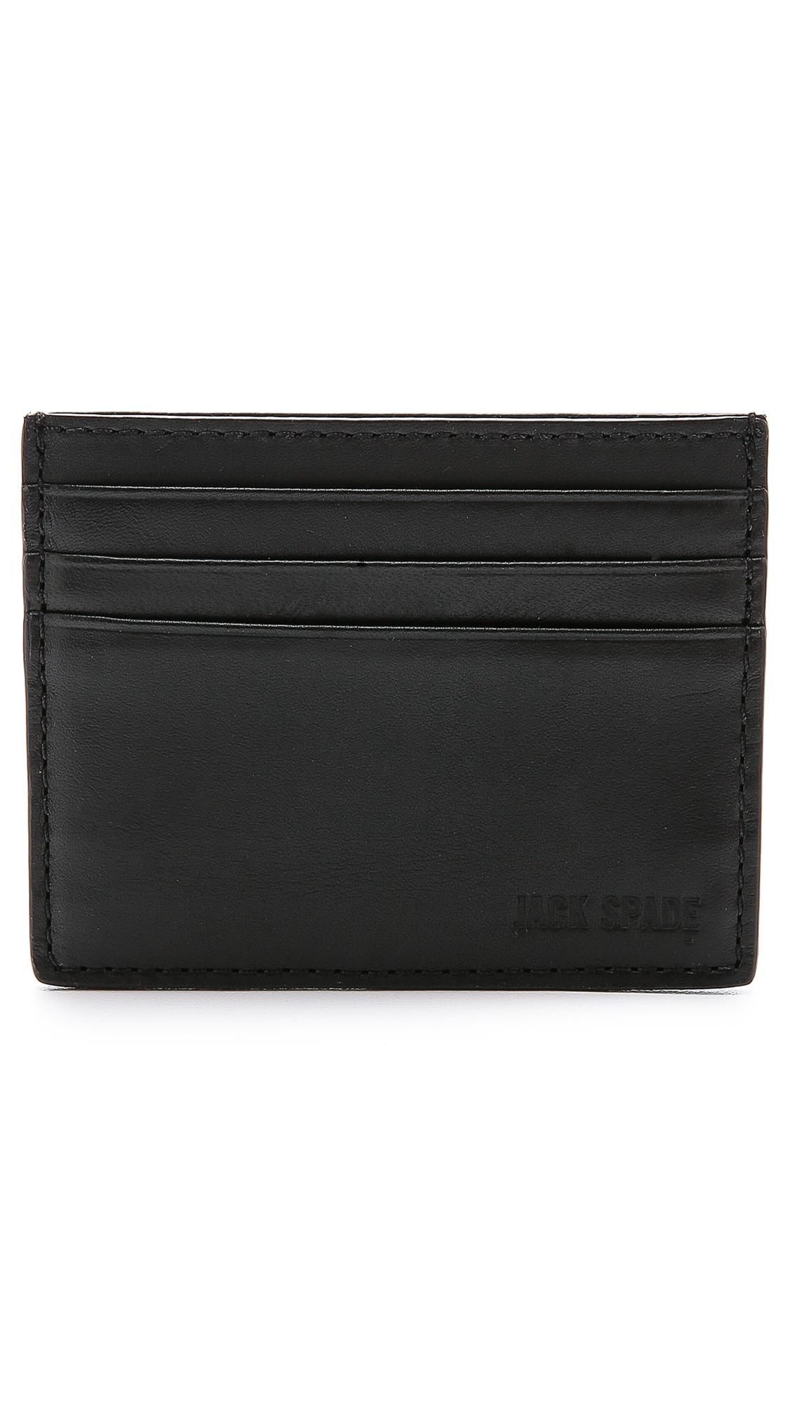 c322bb3b5d6f54 Jack Spade Grant Leather 6 Card Holder in Black for Men - Lyst