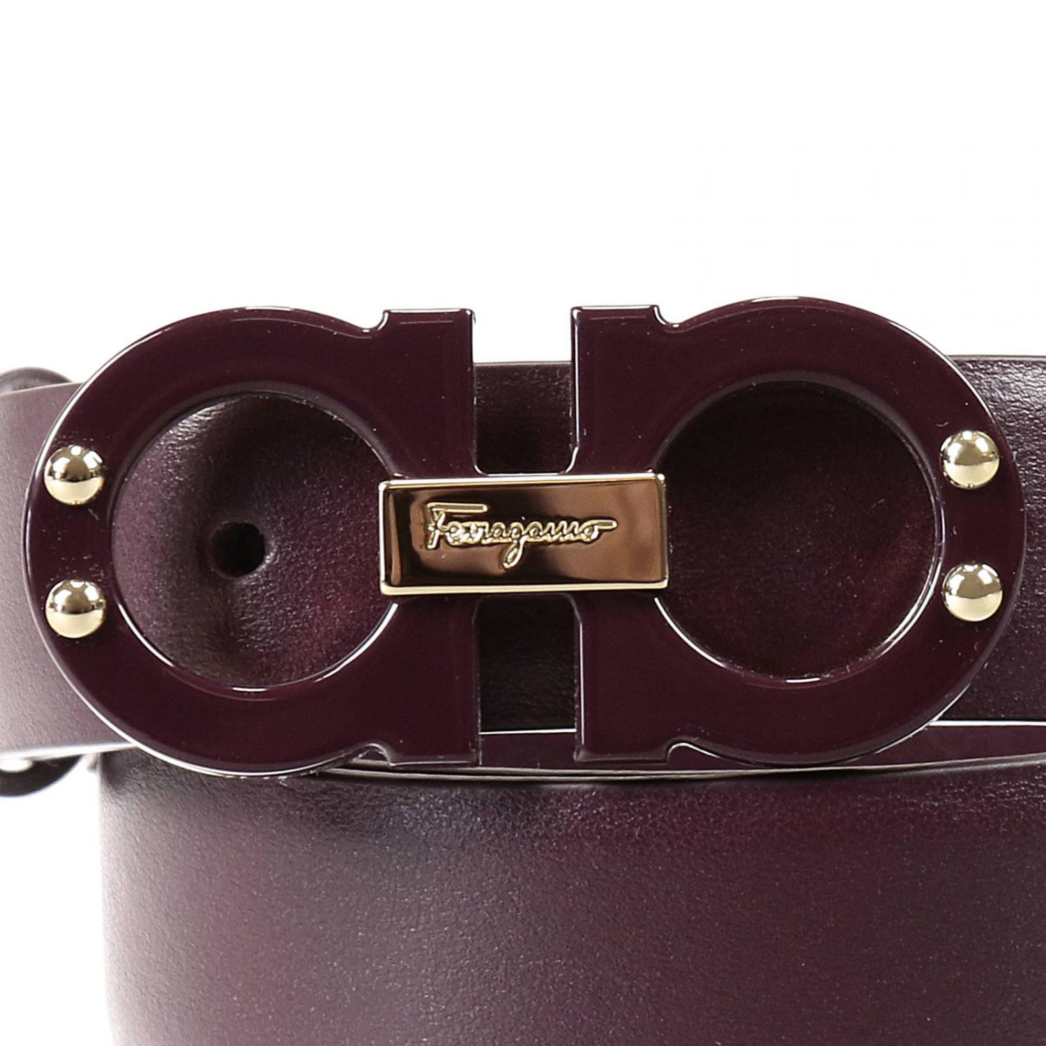 c10a01b853b45 ... best price ferragamo belt in purple lyst 28b11 d091f