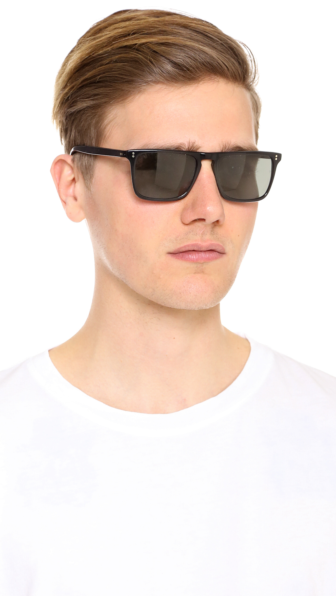 b0ca762e219 Lyst - Oliver Peoples Bernardo Polarized Sunglasses in Black for Men