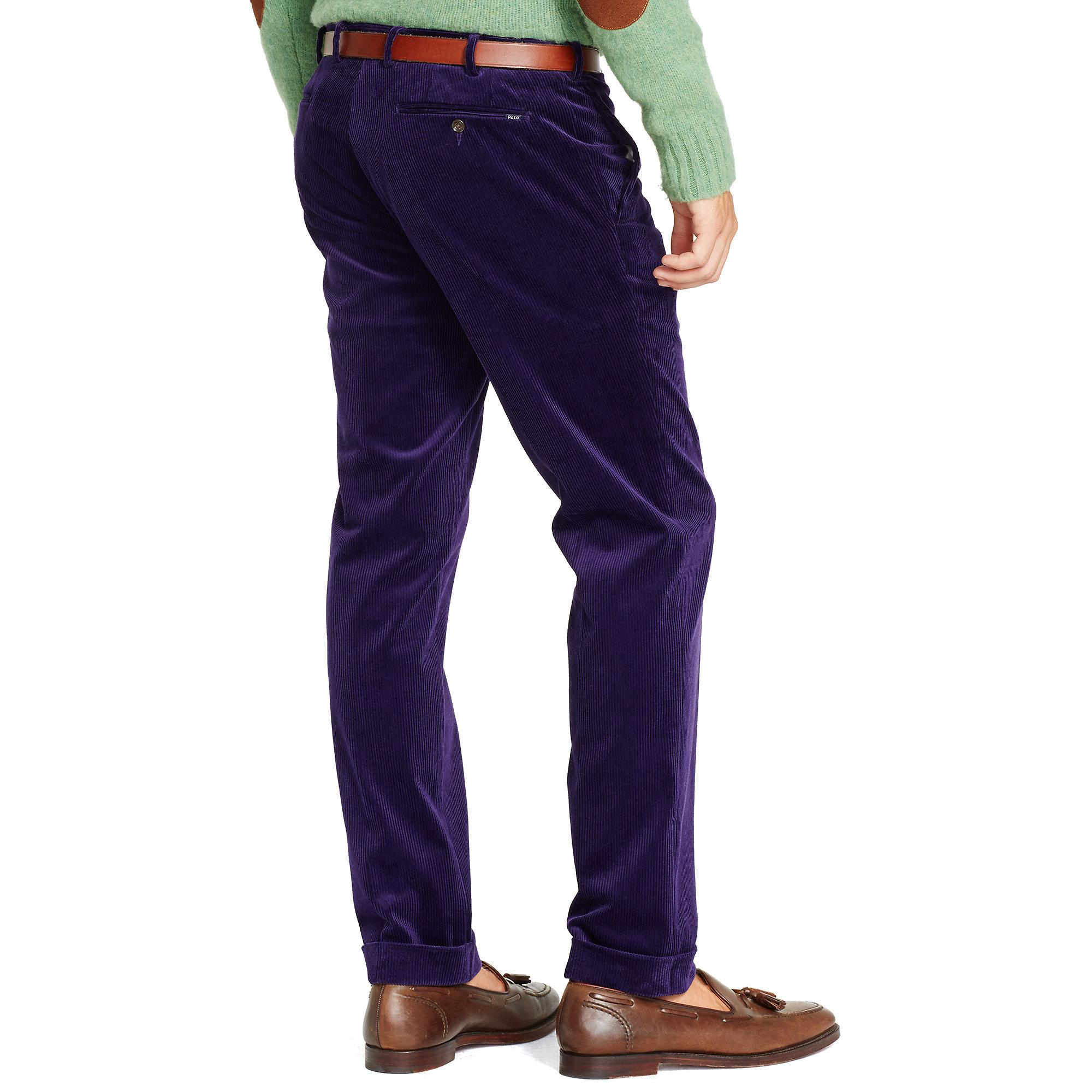 Polo ralph lauren Slim-Fit Hudson Pant in Blue for Men | Lyst