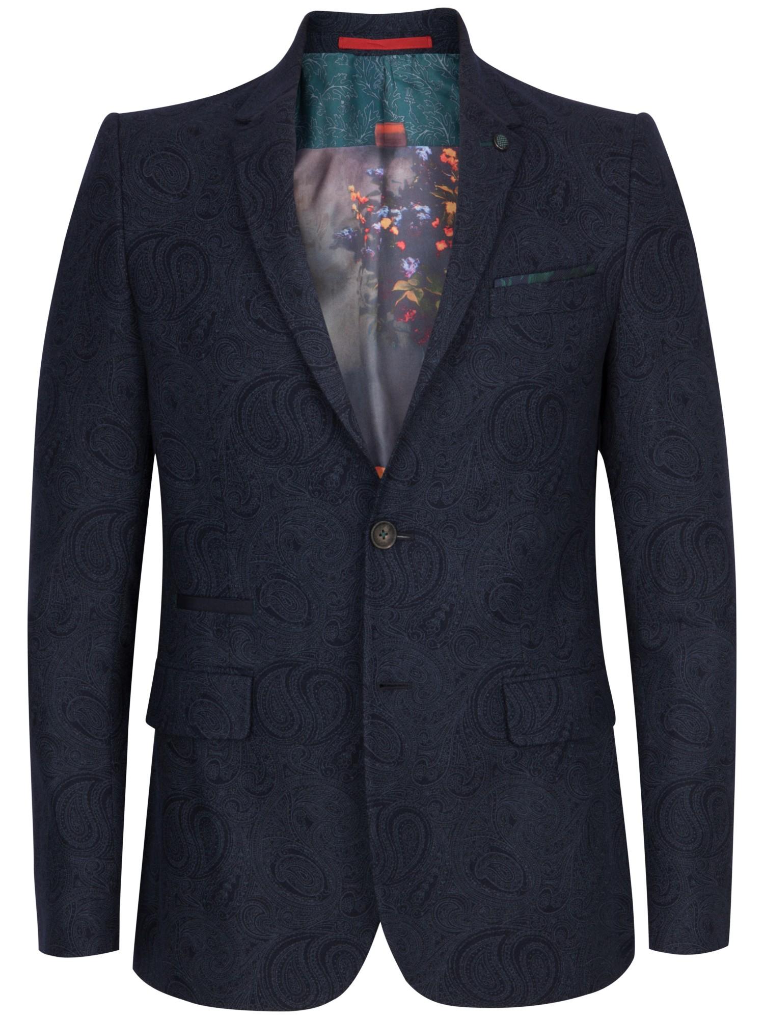 65b3fb96c690f9 Ted Baker Hiko Paisley Print Blazer in Blue for Men - Lyst