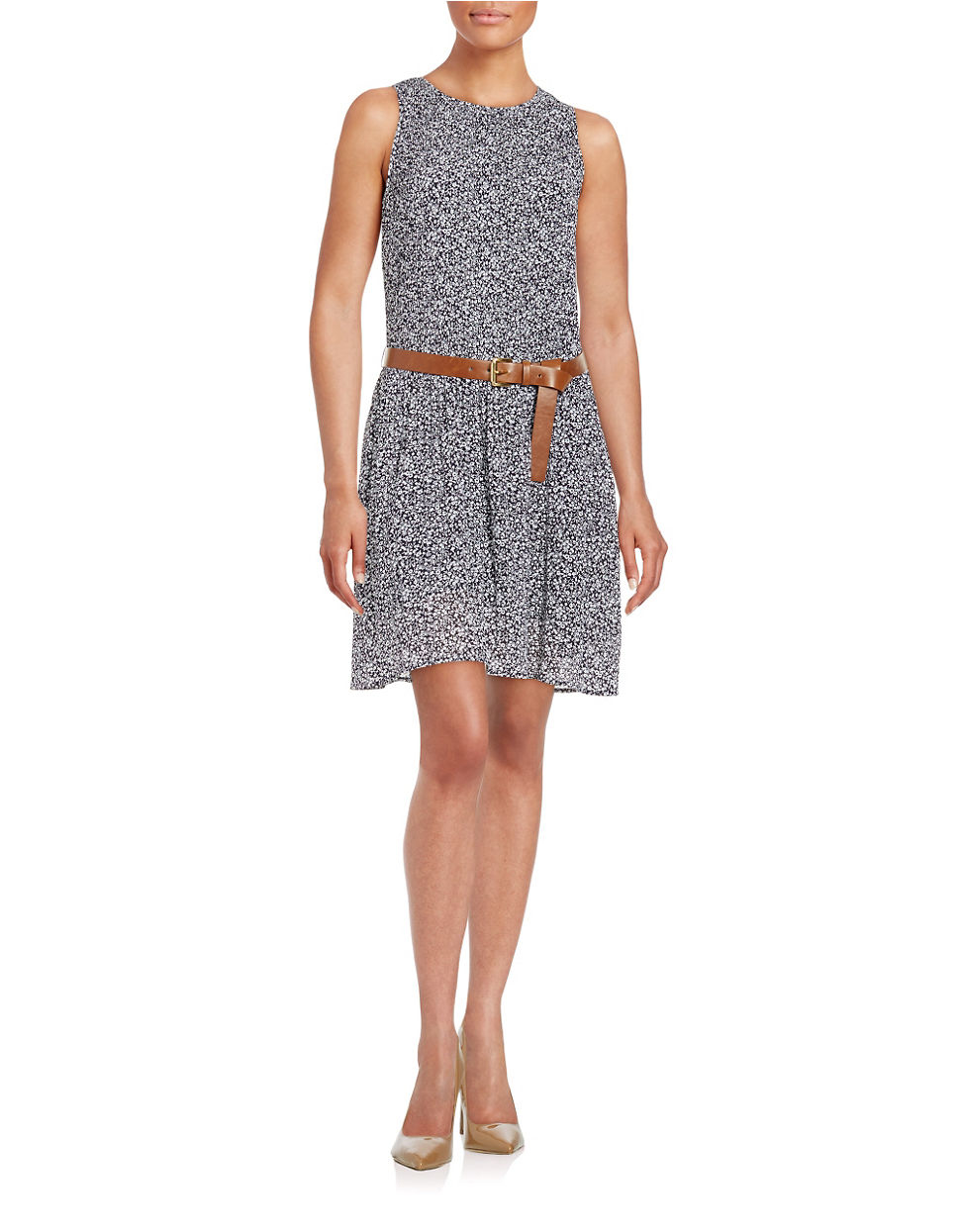 Michael michael kors Pleated Floral Dress in Blue