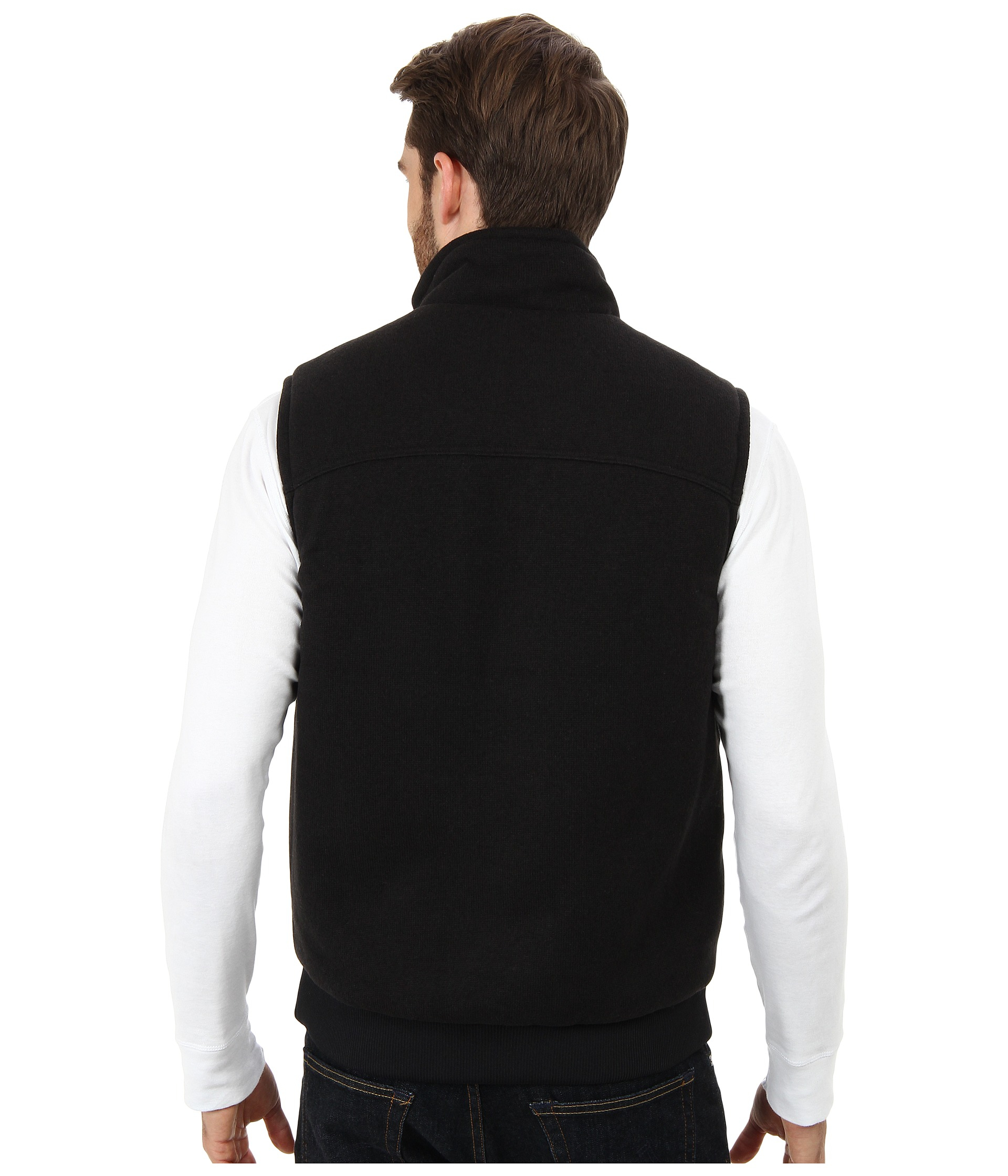 Patagonia Insulated Better Sweater Vest in Black for Men | Lyst