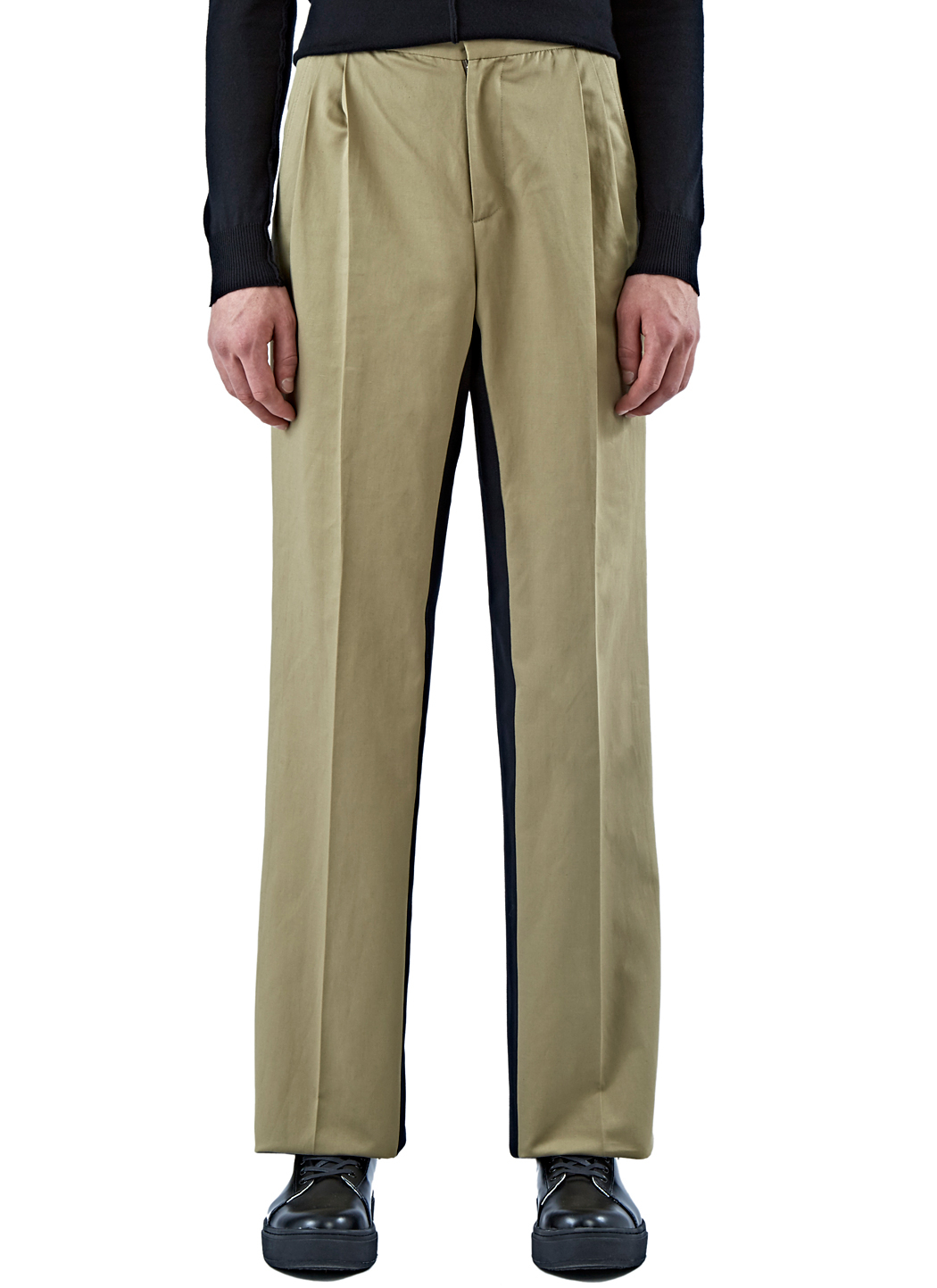 Yang li Men's Wide Leg Chino Pants In Khaki for Men | Lyst
