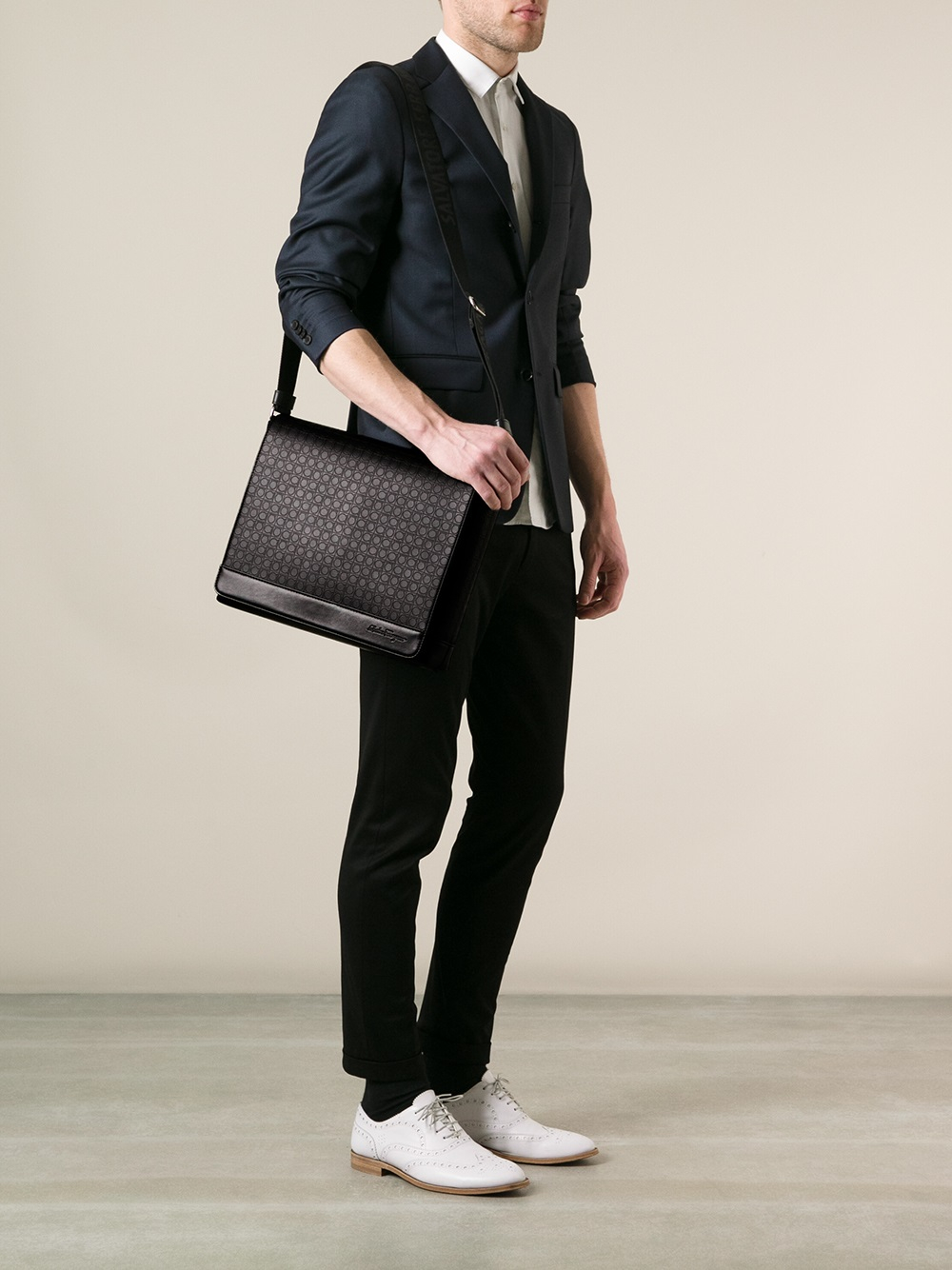 Lyst - Ferragamo Messenger Bag in Black for Men