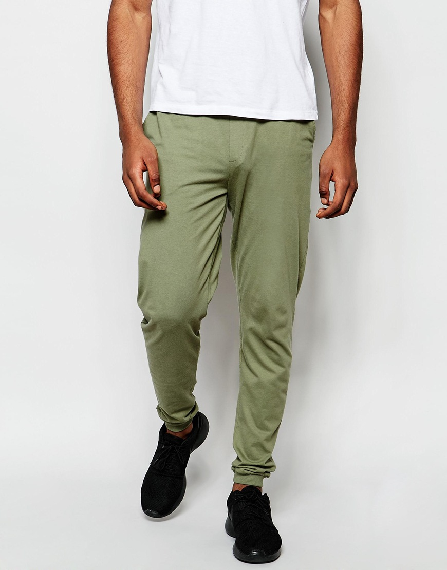 Asos Mens Skinny Joggersu Sea Spray - Pants