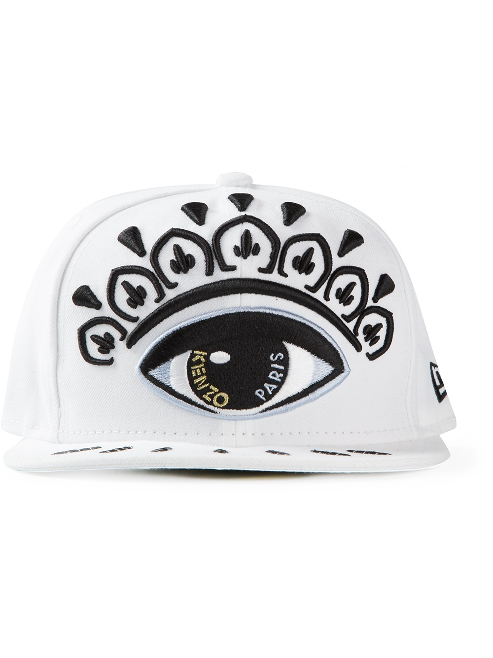 bc139aab52388 KENZO New Era Embroidered Eye Print Cap in White for Men - Lyst