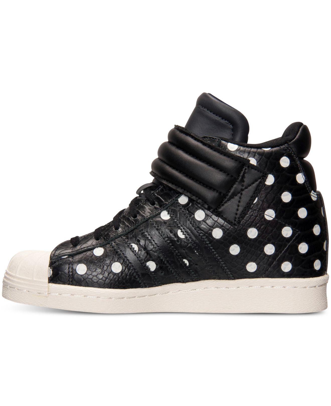 adidas superstar up strap polka dot
