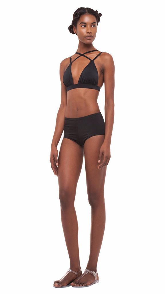 Strange Norma Kamali Boy Cut Swim Short In Black Lyst Hairstyles For Women Draintrainus