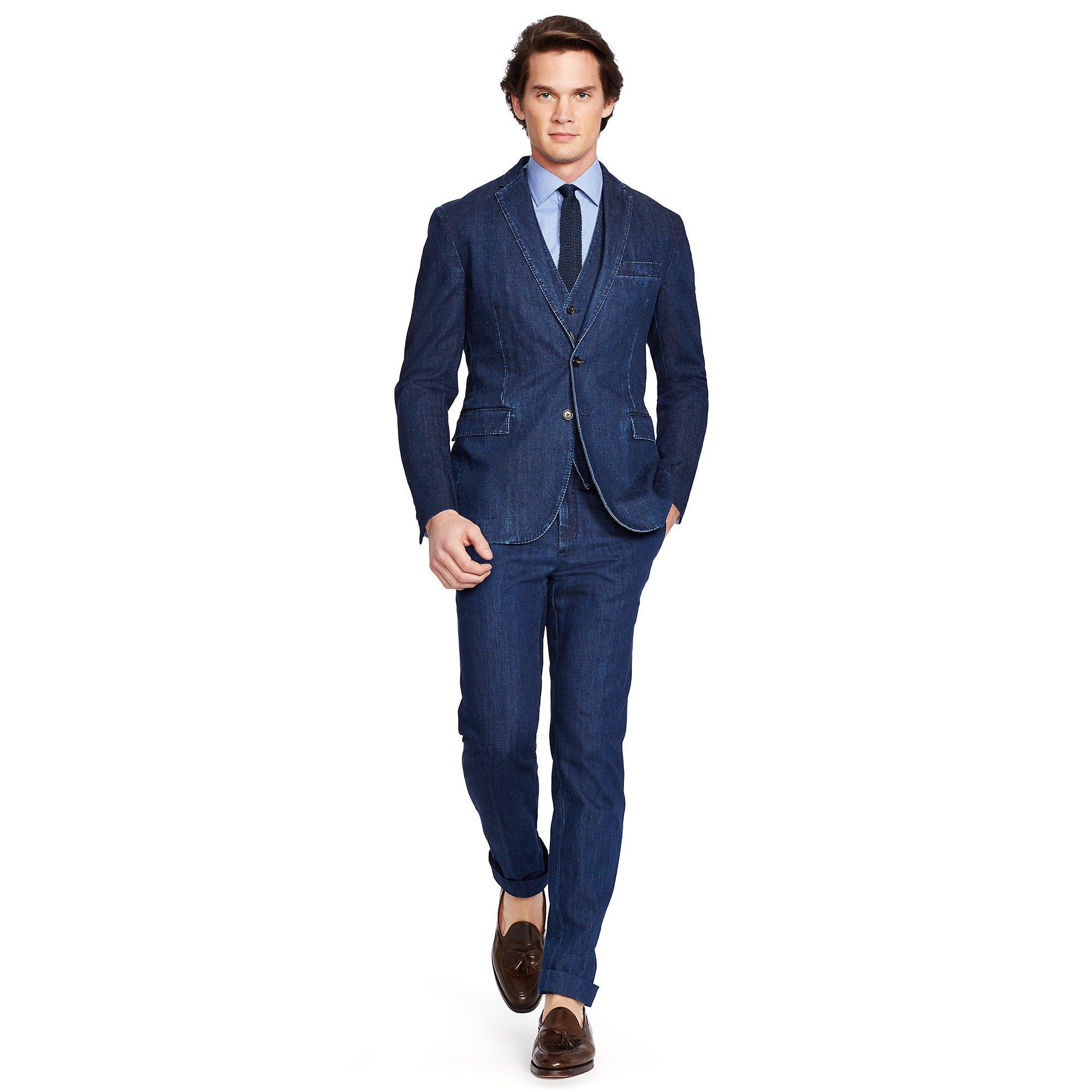 Polo ralph lauren Morgan Denim Sport Coat in Blue for Men | Lyst