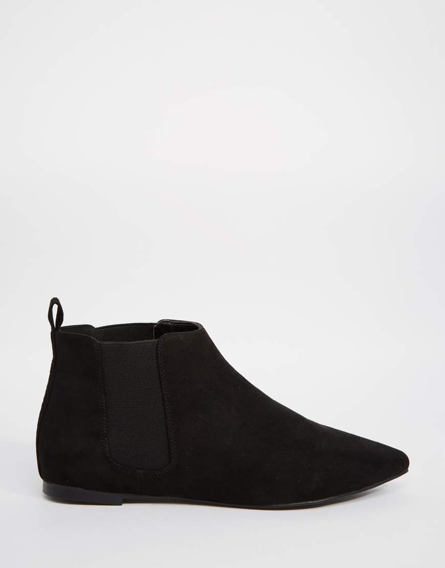 asos arrival pointed chelsea boots in black lyst
