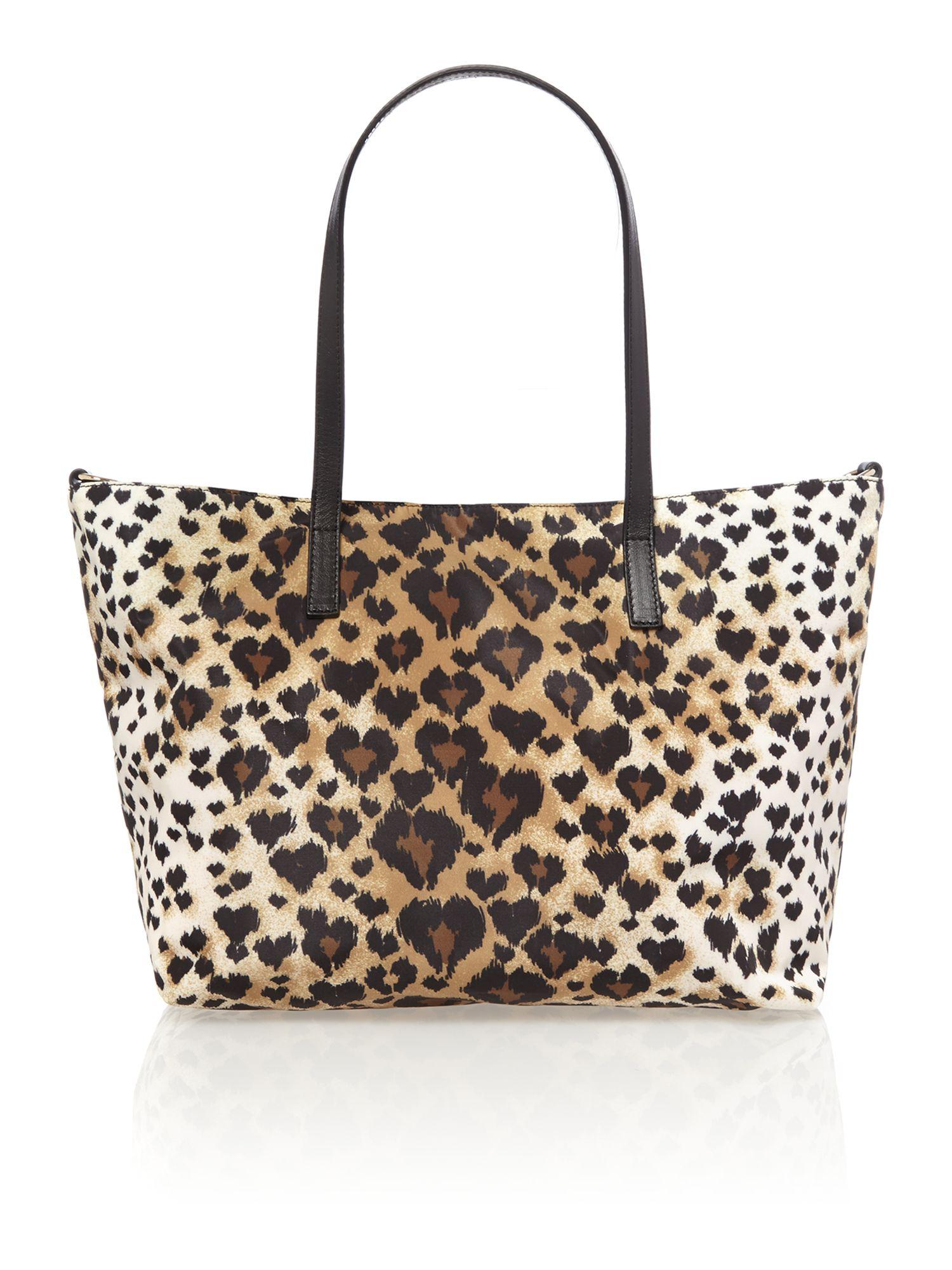 Red valentino Multi Coloured Leopard Print Small Tote Bag ...