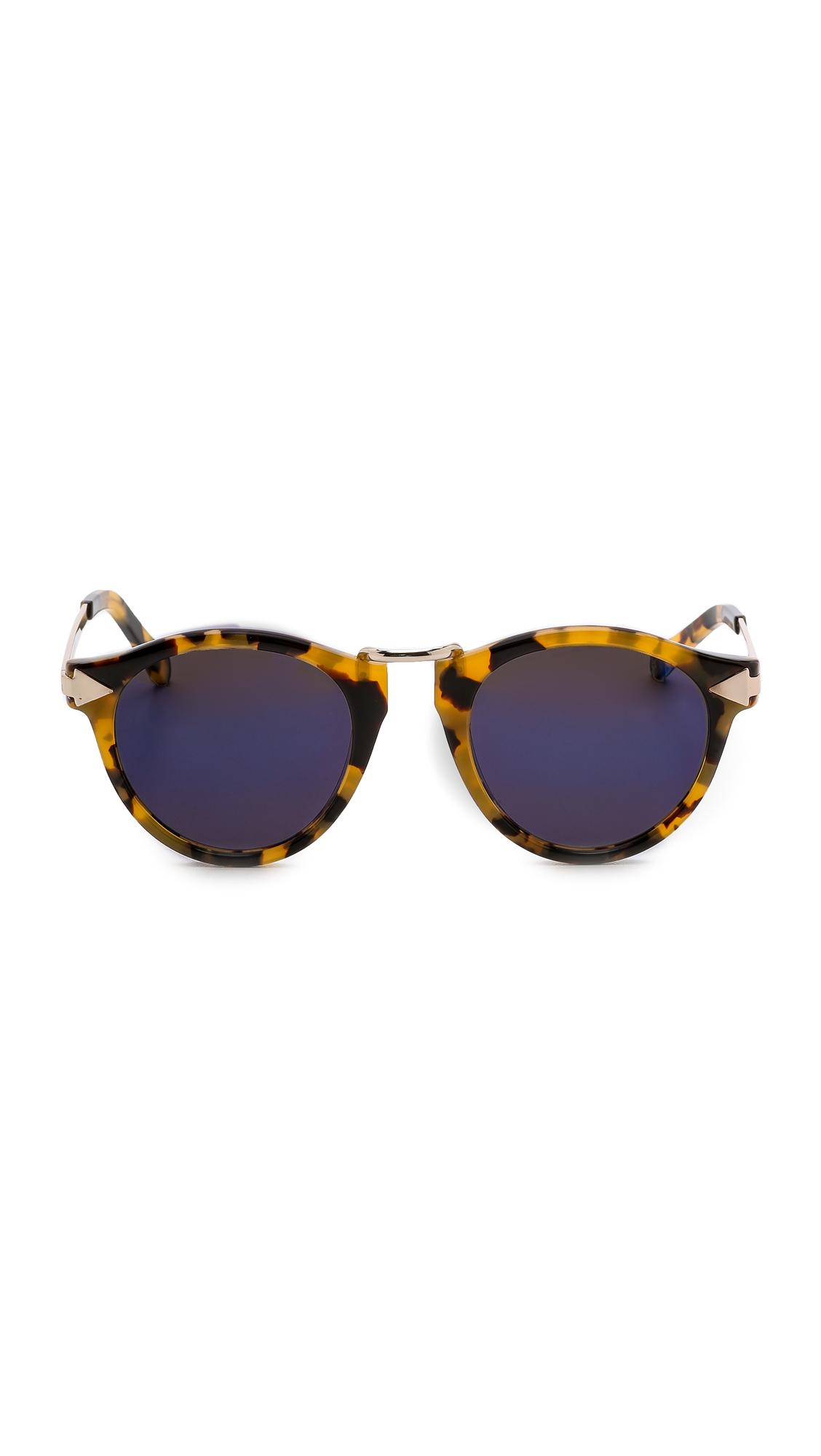 Karen Walker Mirrored Sunglasses  karen walker superstars collection helter skelter mirrored