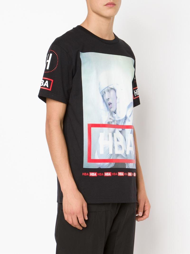 Lyst hood by air digital print t shirt in black for men for Digital printed t shirts