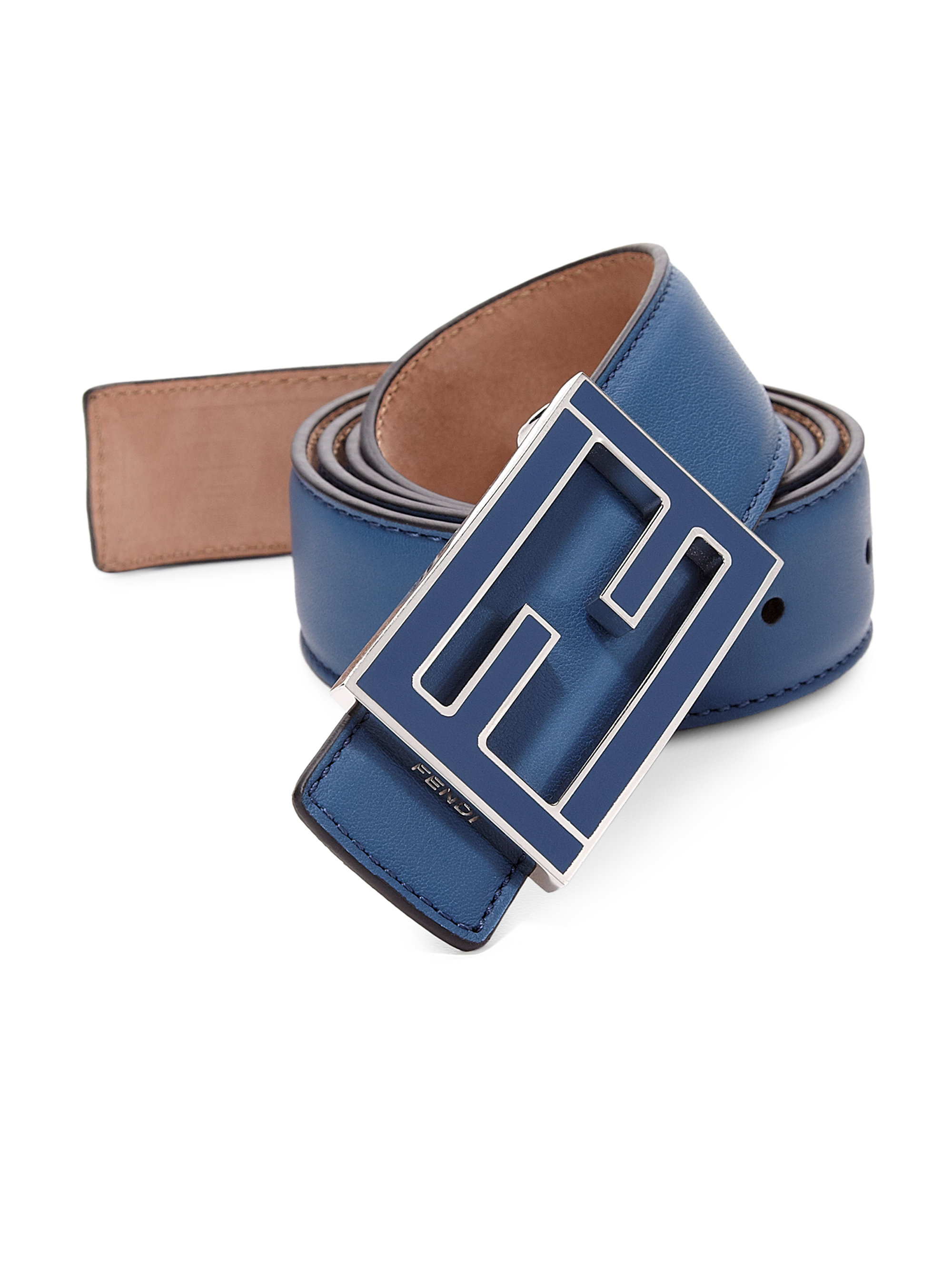 Fendi Flamingo Malto Belt in Blue for Men | Lyst