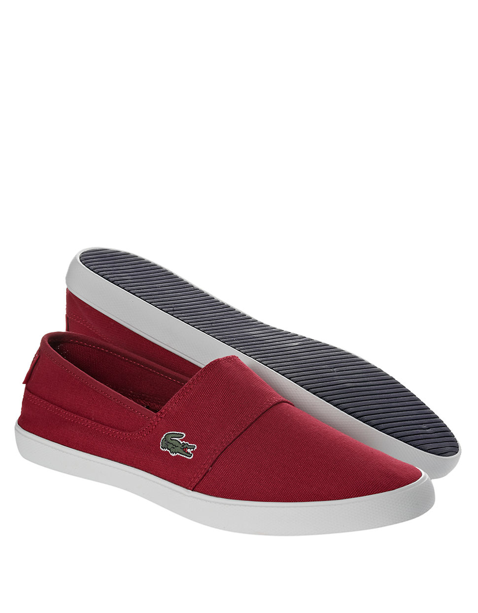 lacoste marice lcr canvas slip on shoes in for