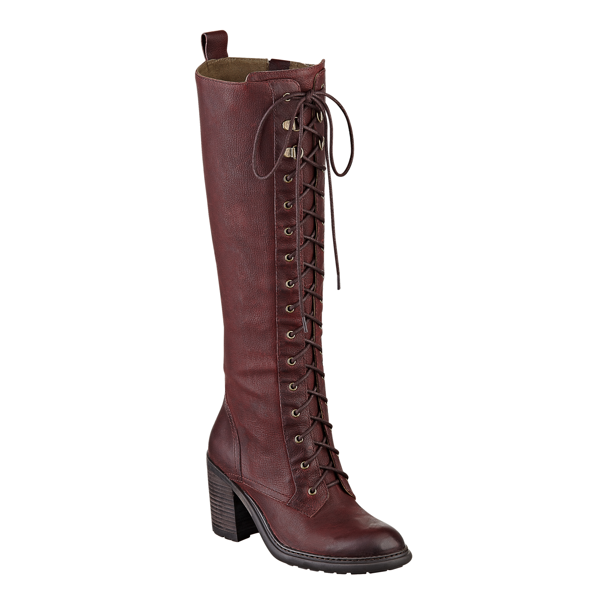 Nine West Lory Boot In Brown Wine Leather Lyst