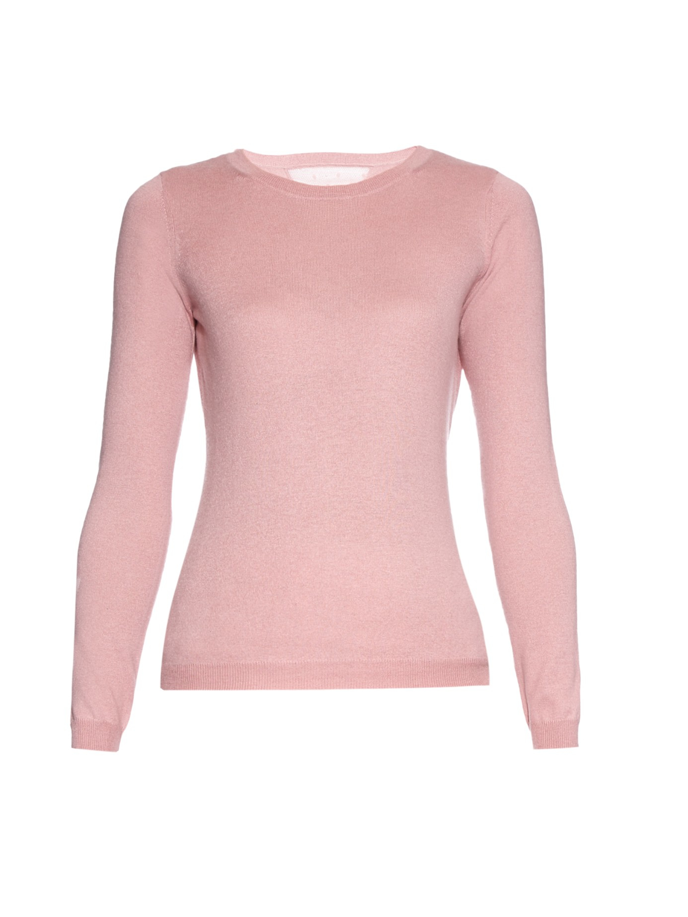 Red valentino Crew-neck Cashmere And Silk-blend Sweater in Pink | Lyst
