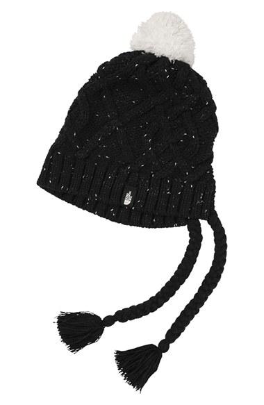 1fe2f19f60a Lyst - The North Face  flecka  Earflap Beanie in Black