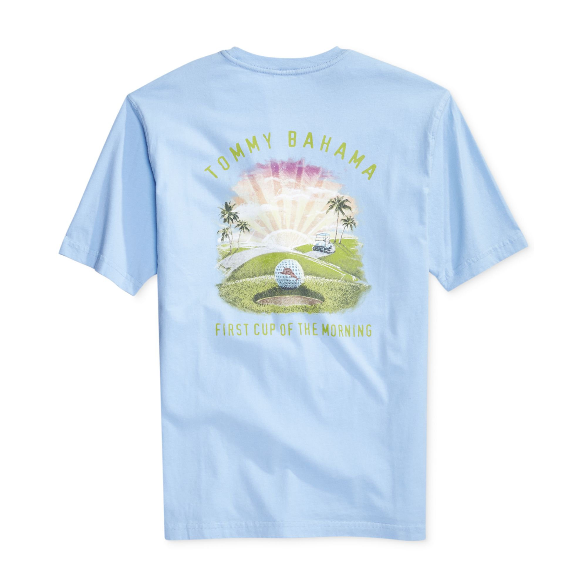 Tommy bahama first cup tshirt in blue for men chambray for Tommy bahama christmas shirt 2014