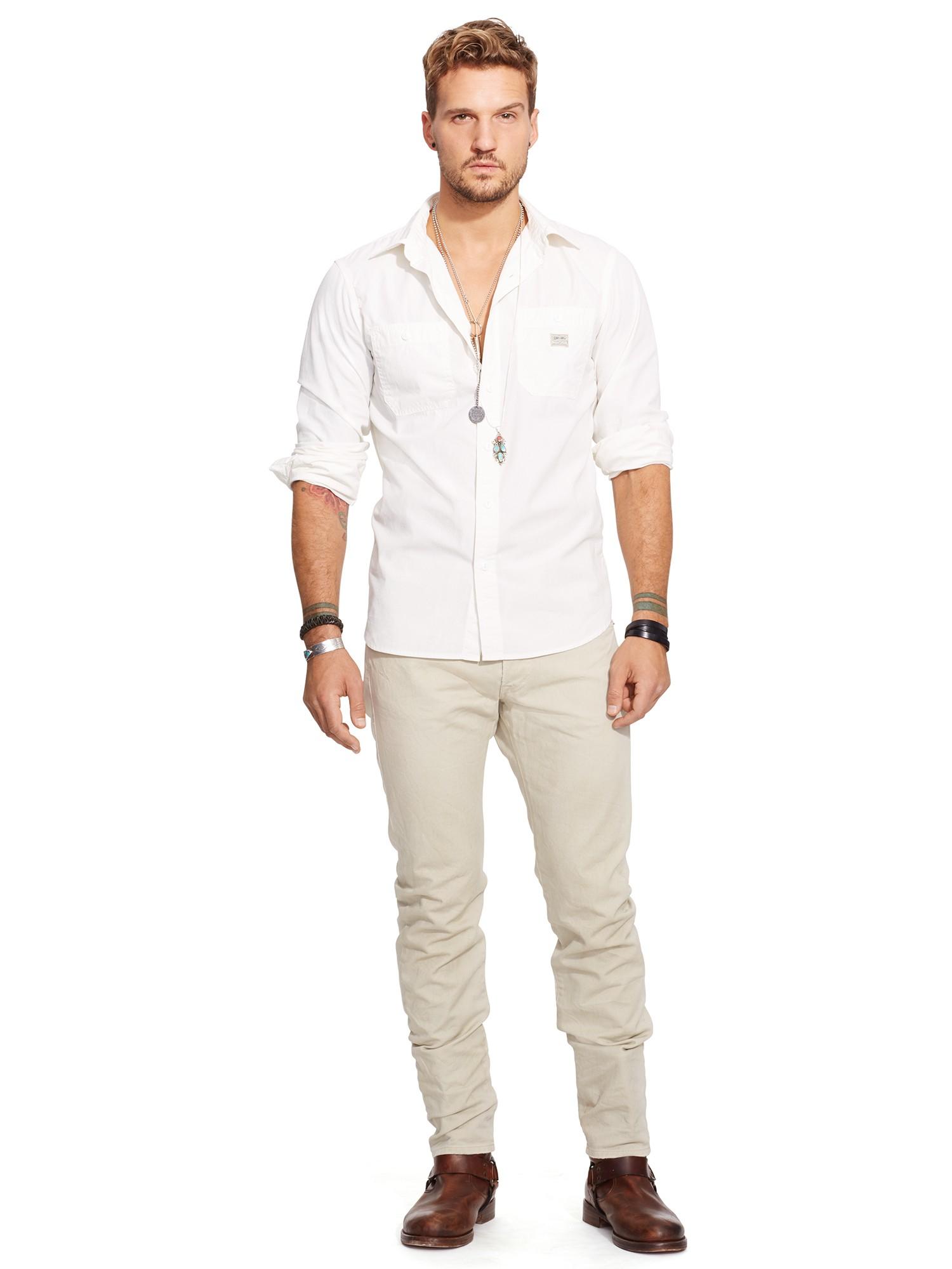 1c6e9d2b85 Denim   Supply Ralph Lauren Long Sleeve Work Sport Shirt in Natural ...