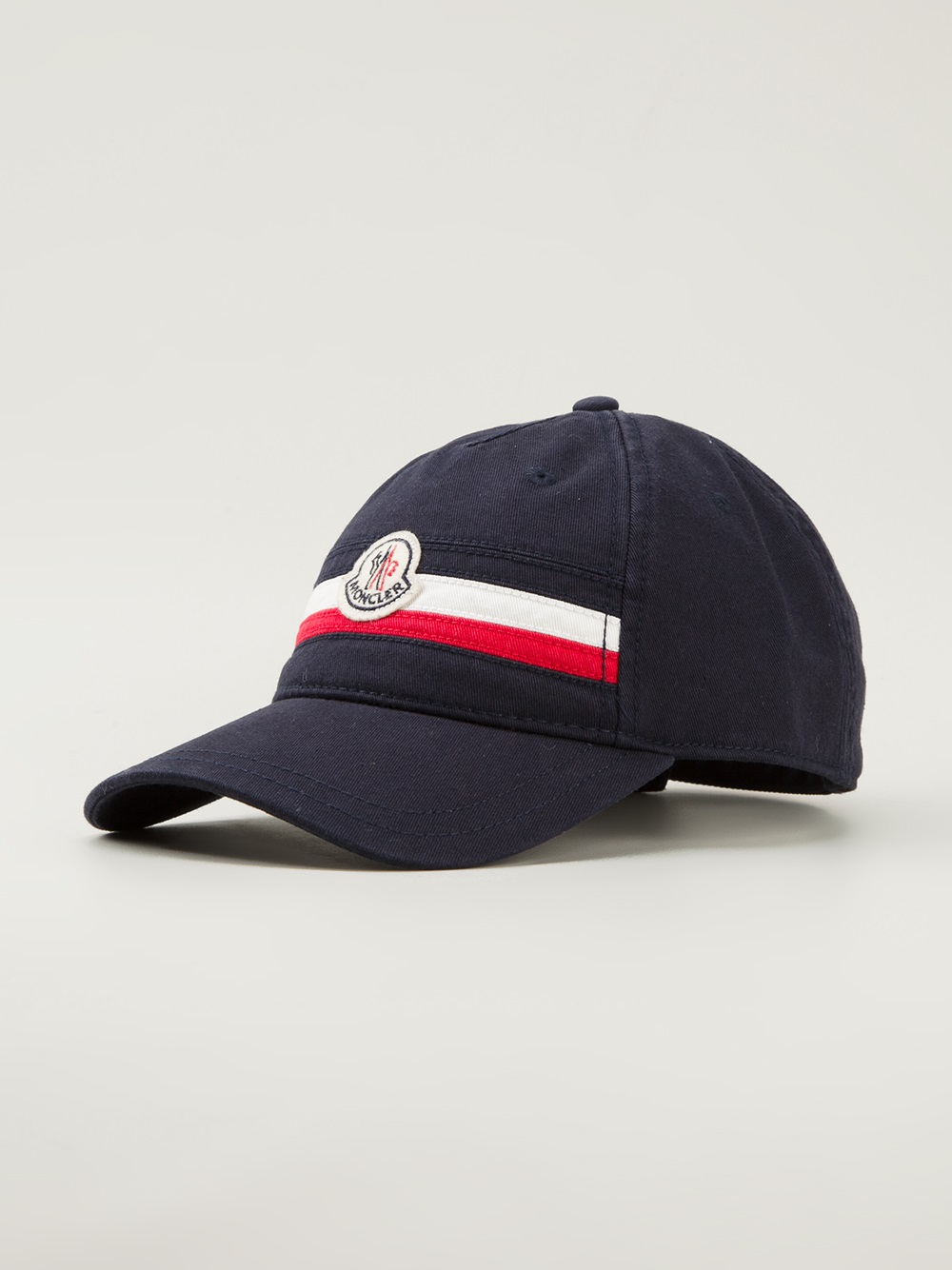 Lyst - Moncler Logo Detail Baseball Cap in Blue for Men 9f0fa4914343