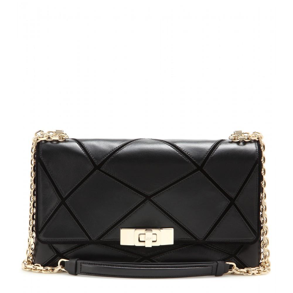 Roger Vivier Prismick Small Leather Shoulder Bag in Black - Lyst bcdcd8a529de2