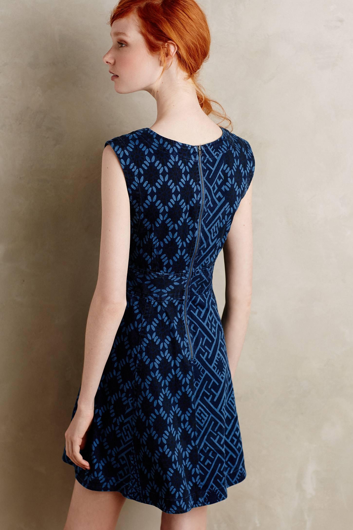 Lyst Plenty By Tracy Reese Diamond Denim Dress In Blue