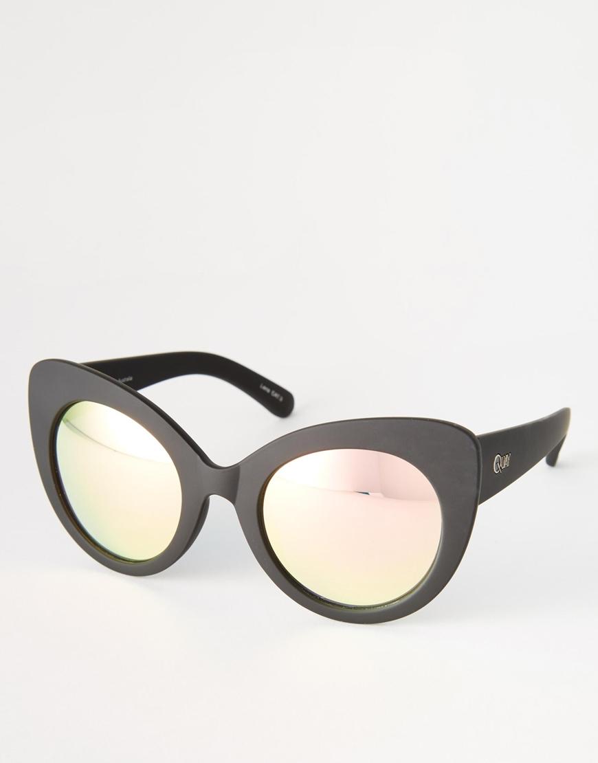 4b998b847f Lyst - Quay Screaming Diva Sunglasses in Black