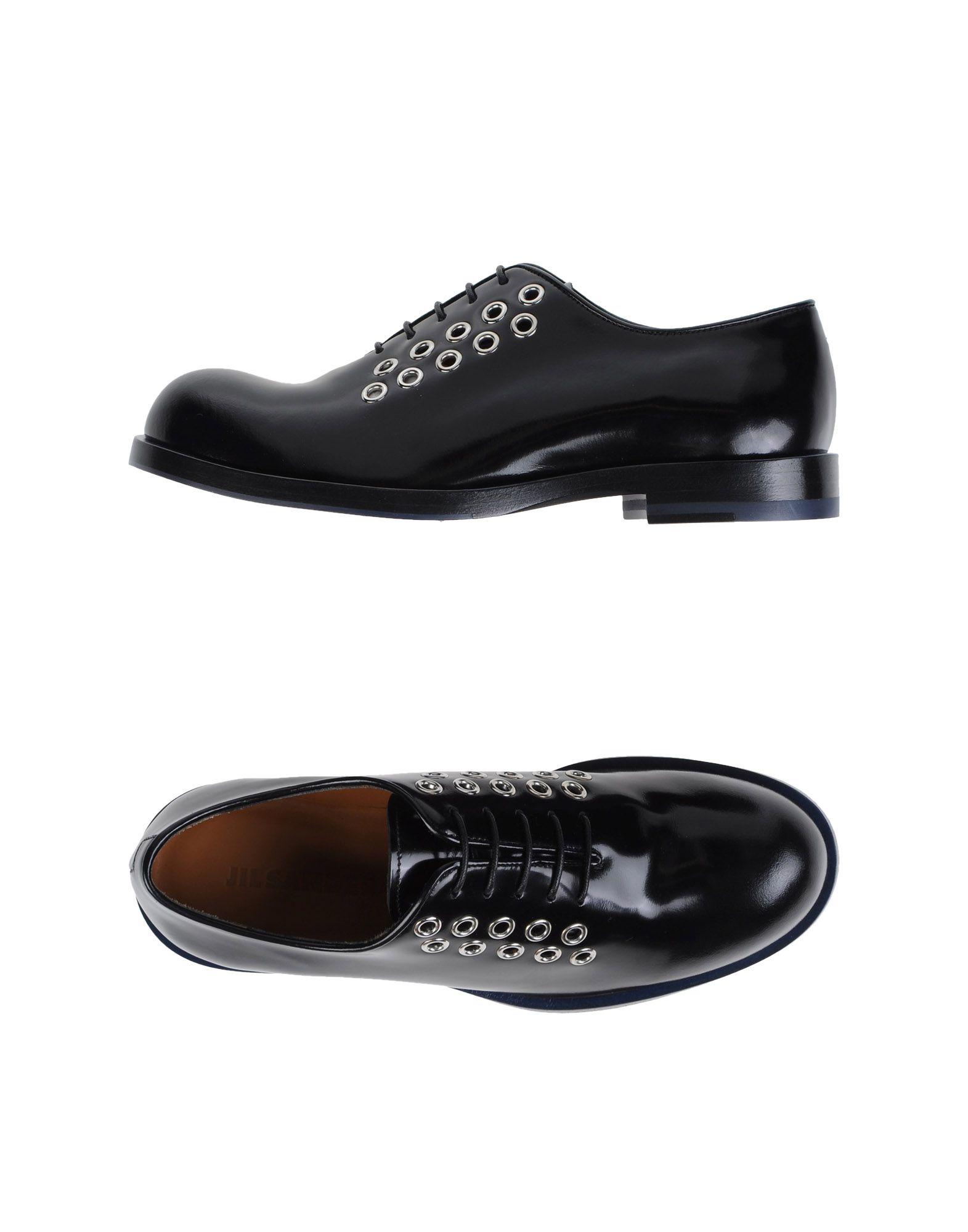 jil sander lace up shoes in black lyst