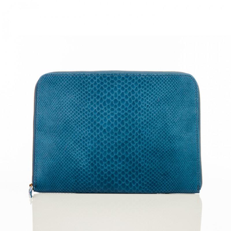 Linea pelle Medium Zip Around Pouch in Blue