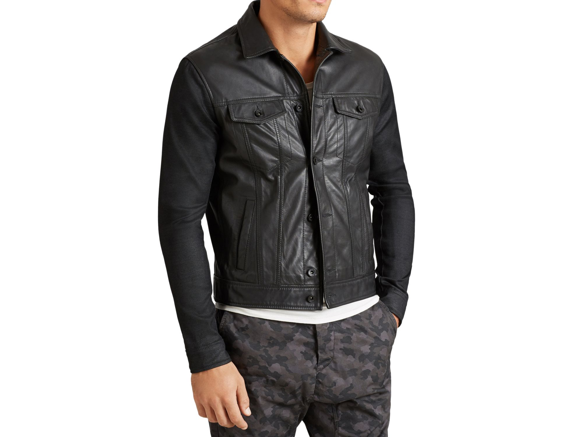 Varvatos leather jacket