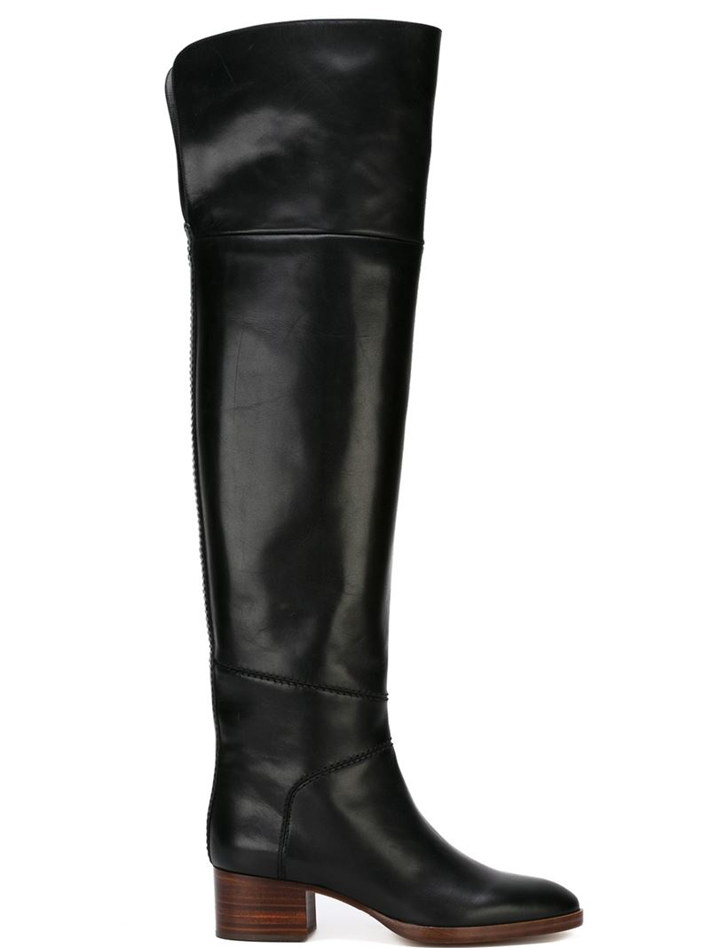 chlo 233 grace the knee length boots in black lyst