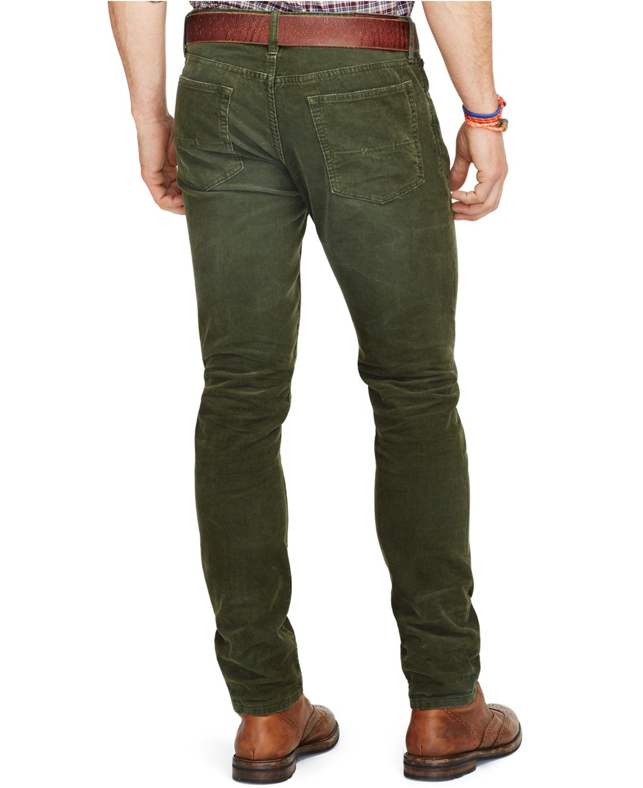 Polo ralph lauren Varick Slim-straight Corduroy Pants in Green for ...