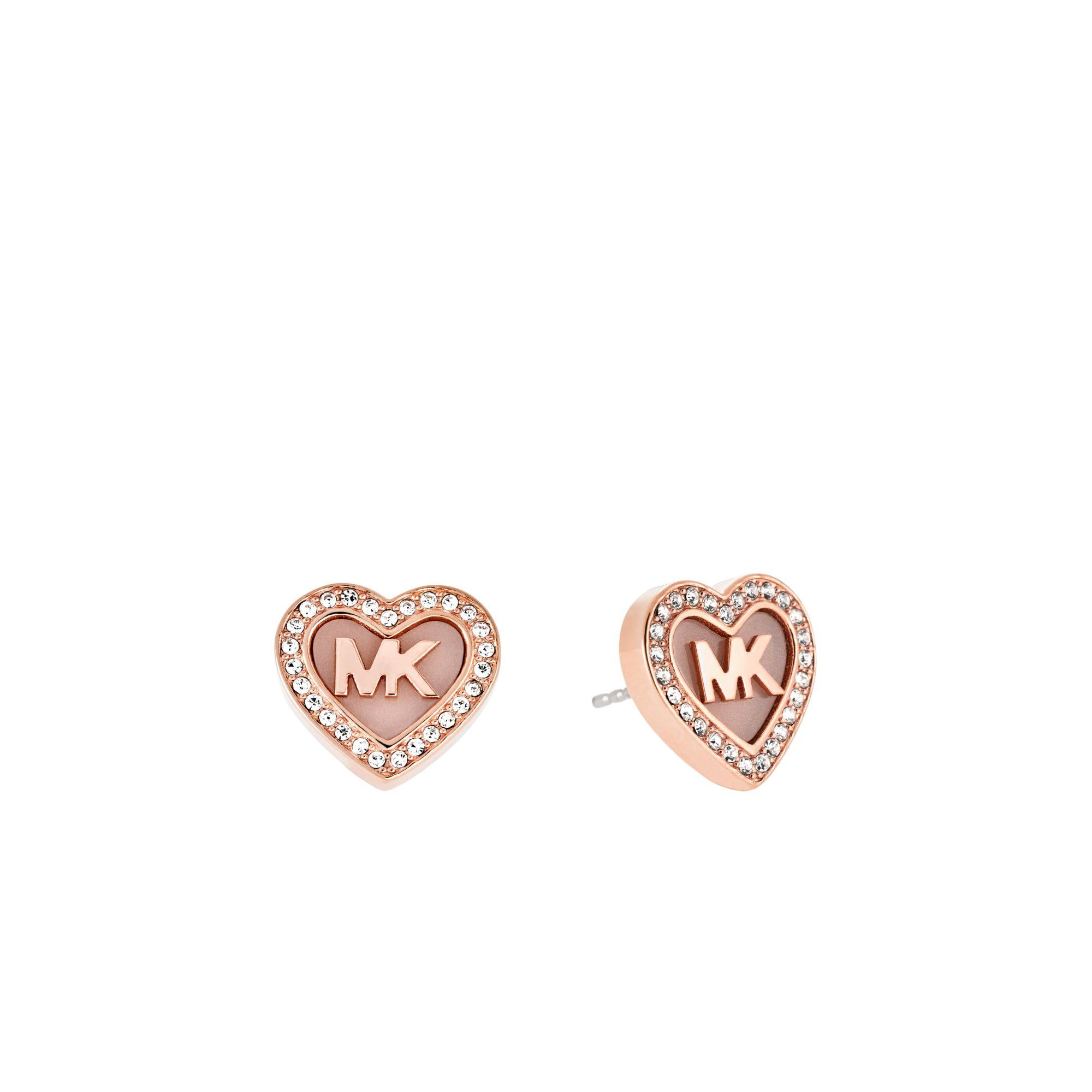 michael kors logo gold tone earrings. Black Bedroom Furniture Sets. Home Design Ideas