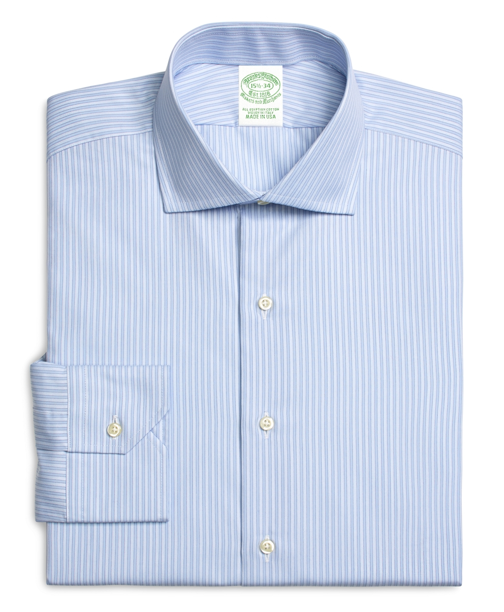 Brooks brothers egyptian cotton extraslim fit spread for Men s spread collar shirts