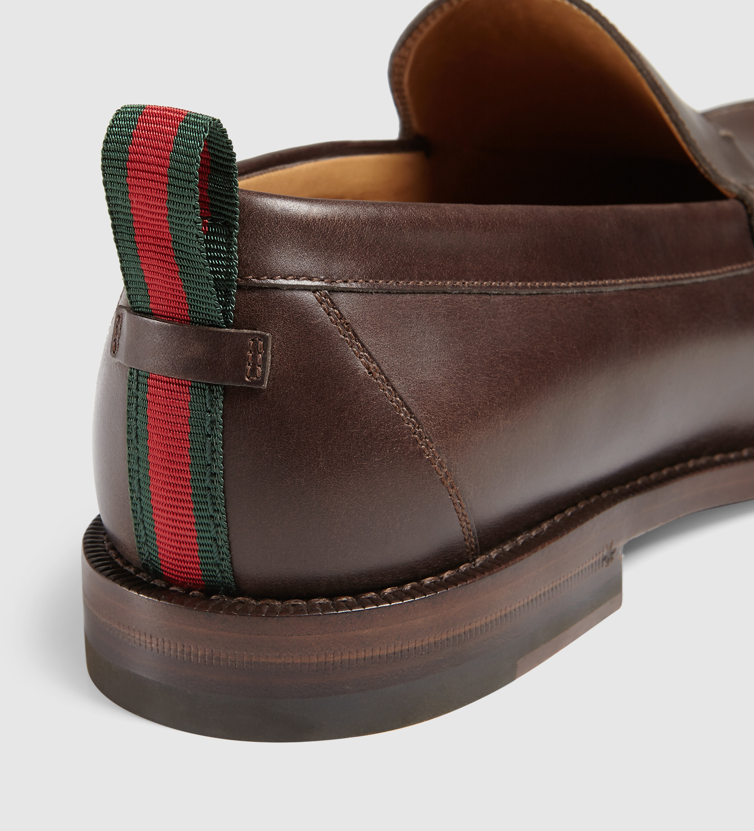fe8a1375084 Gucci Leather Loafer in Brown for Men - Lyst